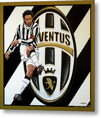 Juventus Fc Turin Painting Metal Print by Paul Meijering