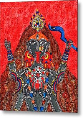 Kaali- The Fierce Form Metal Print