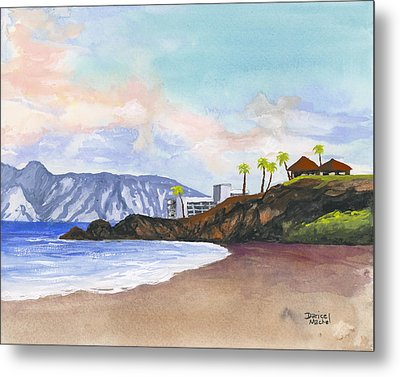 Metal Print featuring the painting Kaanapali Beach by Darice Machel McGuire
