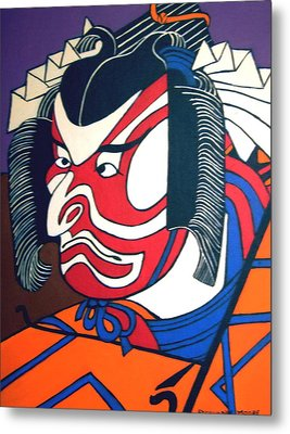 Kabuki Actor Metal Print by Stephanie Moore