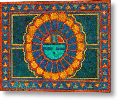 Kachina Sun Spirit Metal Print by Linda Henry