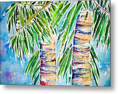 Kaimana Beach Metal Print by Julie Kerns Schaper - Printscapes