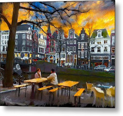 Metal Print featuring the photograph Kaizersgracht 451. Amsterdam by Juan Carlos Ferro Duque