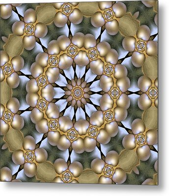 Metal Print featuring the digital art Kaleidoscope 130 by Ron Bissett