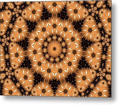 Metal Print featuring the digital art Kaleidoscope 131 by Ron Bissett