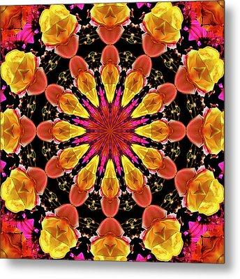 Kaleidoscope Art I I Metal Print by Laura Mountainspring
