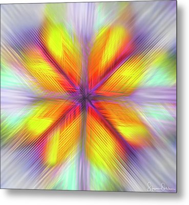 Kaleidoscope Butterflies - Quad - Signed Limited Edition Metal Print by Steve Ohlsen