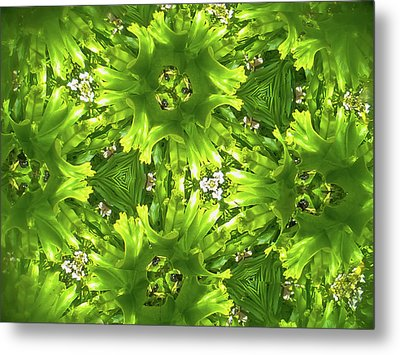 Kaleidoscope Flower Metal Print
