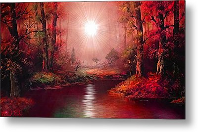 Kaleidoscope Forest Metal Print by Michael Rucker