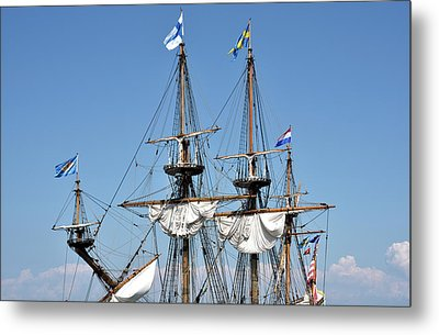 Metal Print featuring the photograph Kalmar Nyckel - Docked In Lewes Delaware by Brendan Reals