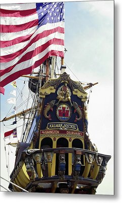 Kalmar Nyckel Tall Ship Metal Print by Sally Weigand