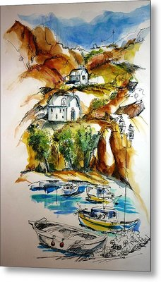 Kalymnos Metal Print by Therese Alcorn
