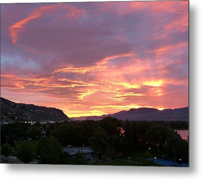Kamloops Sunset 2 Metal Print