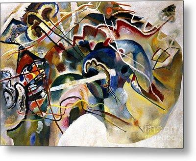 Kandinsky: White, 1913 Metal Print by Granger