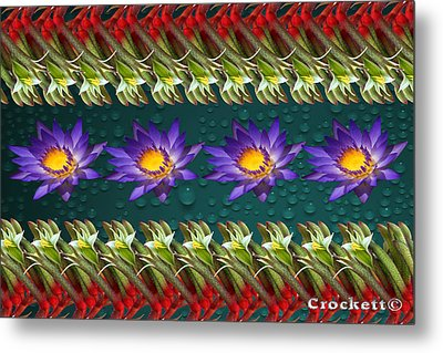 Metal Print featuring the photograph Kangaroo Paw Heaven by Gary Crockett