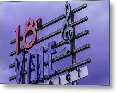 Kansas City 18th And Vine Sign Metal Print