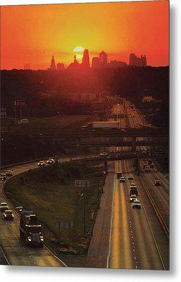 Kansas City I 70 Sunset Metal Print by Don Wolf