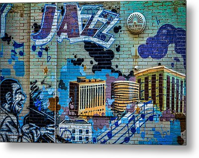 Kansas City Jazz Mural Metal Print
