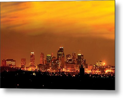 Kansas City Missouri Skyline Metal Print by Don Wolf
