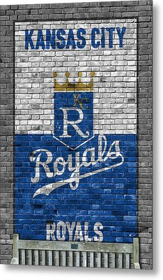 Kansas City Royals Brick Wall Metal Print by Joe Hamilton