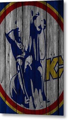 Kansas City Scouts Wood Fence Metal Print