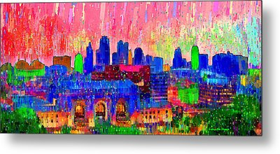 Kansas City Skyline 206 - Da Metal Print by Leonardo Digenio