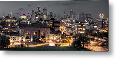 Kansas City Skyline Metal Print by Ryan Heffron