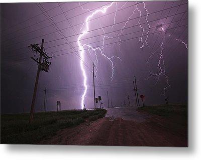 Kansas Lightning Metal Print by Ryan Crouse