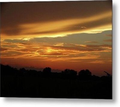 Kansas Summer Sunset Metal Print by Rebecca Overton