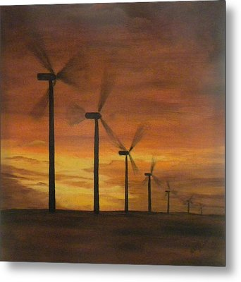 Kansas Wind Farm Metal Print