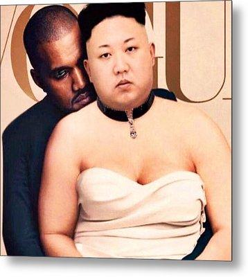 Kanye Kim  Metal Print