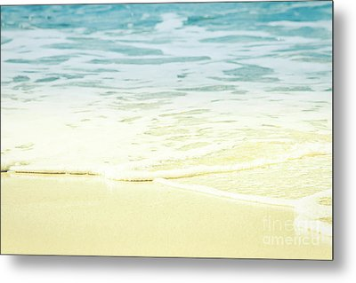 Metal Print featuring the photograph Kapalua Beach Dream Colours Sparkling Golden Sand Seafoam Maui by Sharon Mau