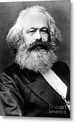 Karl Marx  German Politician Economist And Philosopher One Of The Authors Of Communist Pa Metal Print by English School
