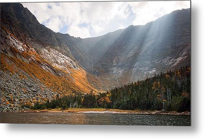 Katahdin And Chimney Pond Metal Print by Patrick Downey