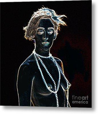 Kate In Nude Fine Art Drawings Nude Girl Prints 1132.02 Metal Print by Kendree Miller