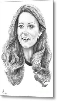 Kate Middleton Catherine Duchess Of Cambridge Metal Print by Murphy Elliott