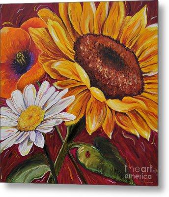 Kathrin's Flowers Metal Print by Lisa Fiedler Jaworski