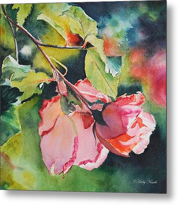 Kathy's Roses Metal Print by Kathy Nesseth