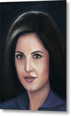 Katrina Kaif - Pastel Metal Print by Vishvesh Tadsare