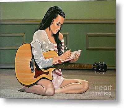 Katy Perry Painting Metal Print by Paul Meijering