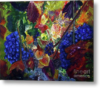 Katy's Grapes Metal Print by Donna Walsh