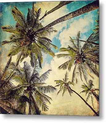 Kauai Island Palms - Blue Hawaii Photography Metal Print