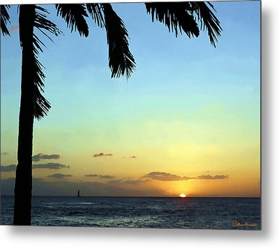 Kauai Sunset Metal Print by Ellen Henneke