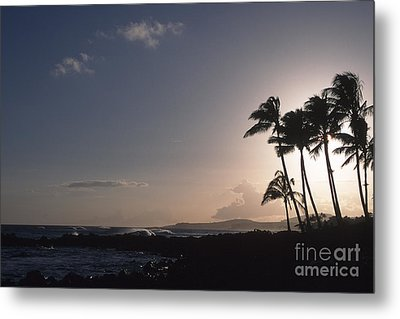 Kauai Sunset Metal Print by Stan and Anne Foster