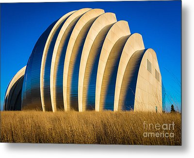 Kauffman Center For The Performing Arts Metal Print by Inge Johnsson