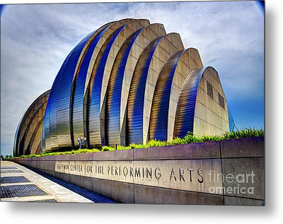 Kauffman Center For The Performing Arts Metal Print by Jean Hutchison