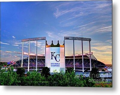 Royals Kauffman Stadium 2015 World Champions Metal Print