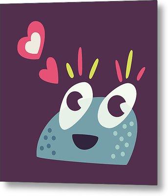 Kawaii Cute Cartoon Candy Character Metal Print by Boriana Giormova