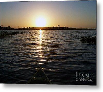 Kayaking Dawn Metal Print by Jack Norton