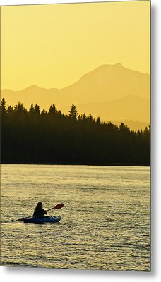Metal Print featuring the photograph Kayaking Lake Almanor by Sherri Meyer